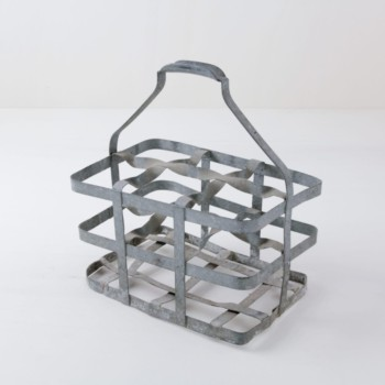 Vintage metal milk basket, rent
