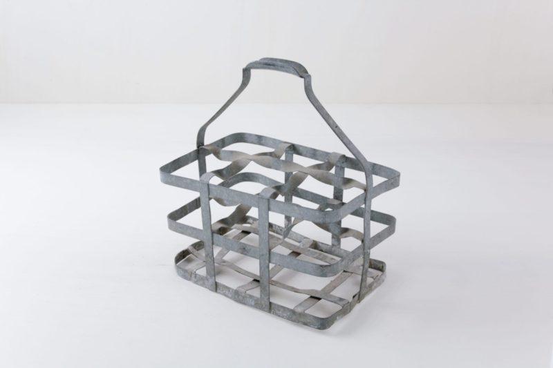Vintage metal milk basket, rent