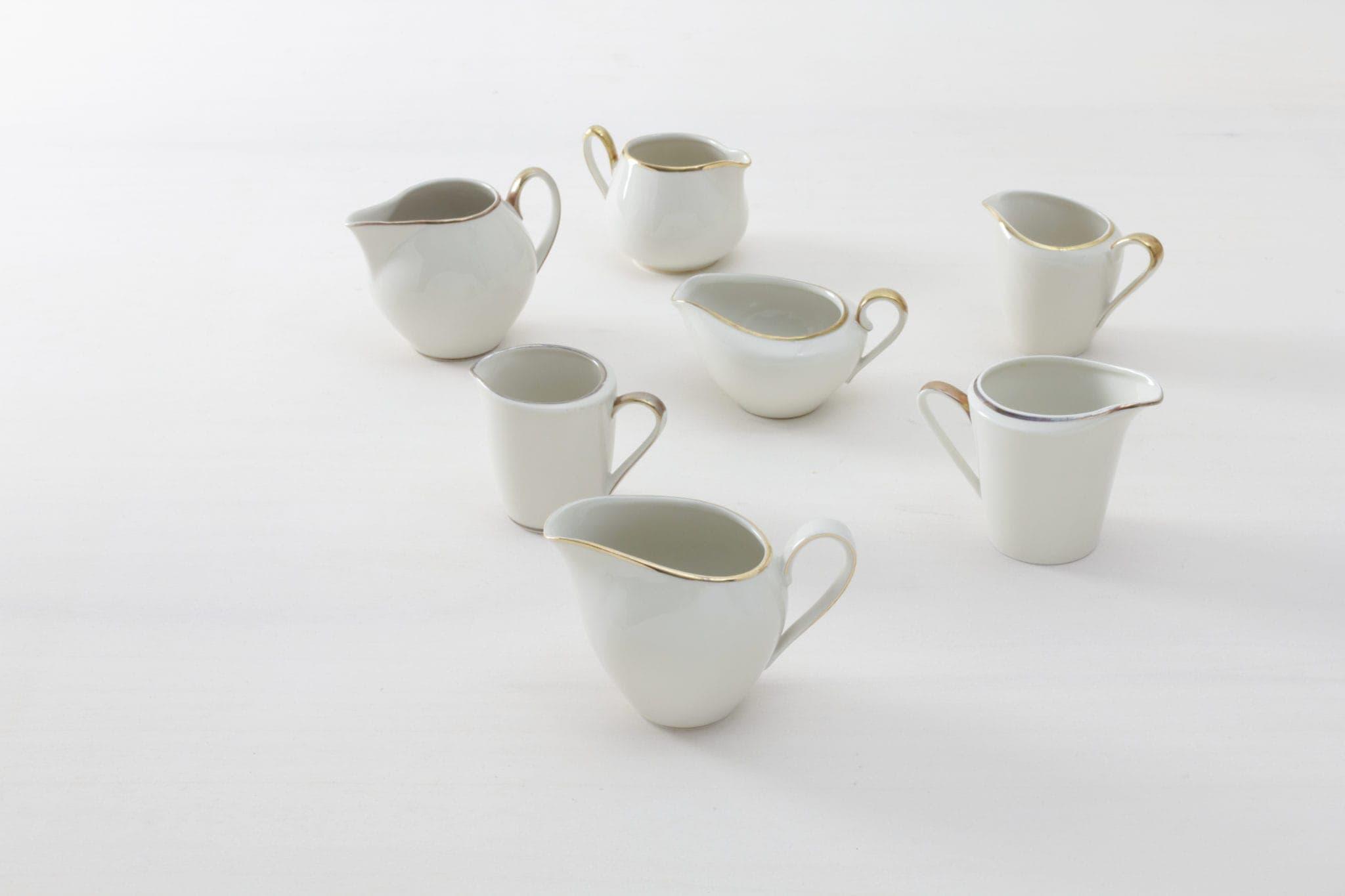 Vintage Porzellan,Milchkännchen & Zuckerschalen mieten
