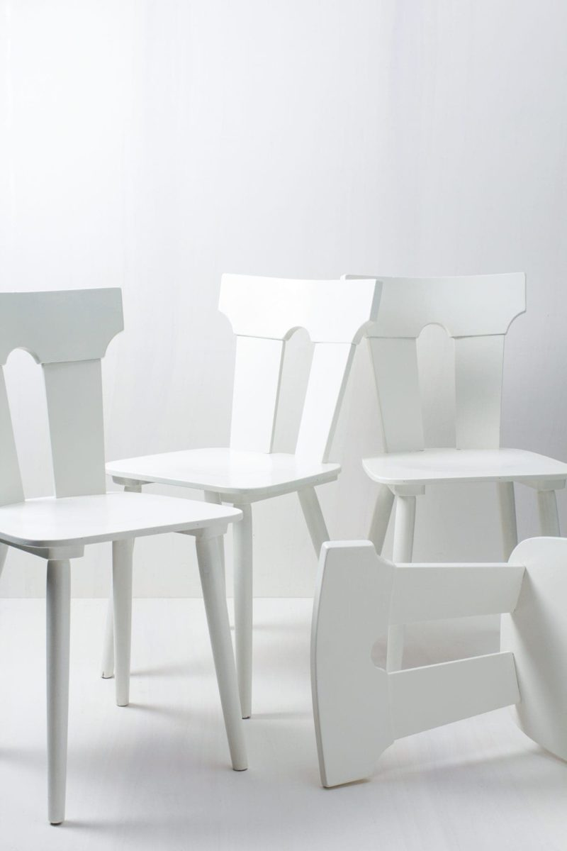 Rent rustic, white rustic farm chairs, Germany, Berlin