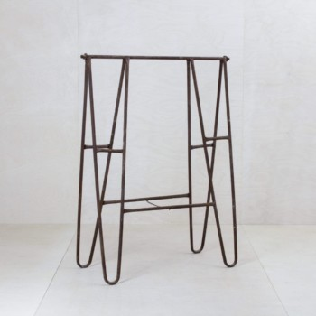 Old trestles, DYI shelf exhibition stand, rent