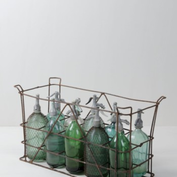 Rent metal box, vintage soda bottles, Berlin, Hamburg, Cologne