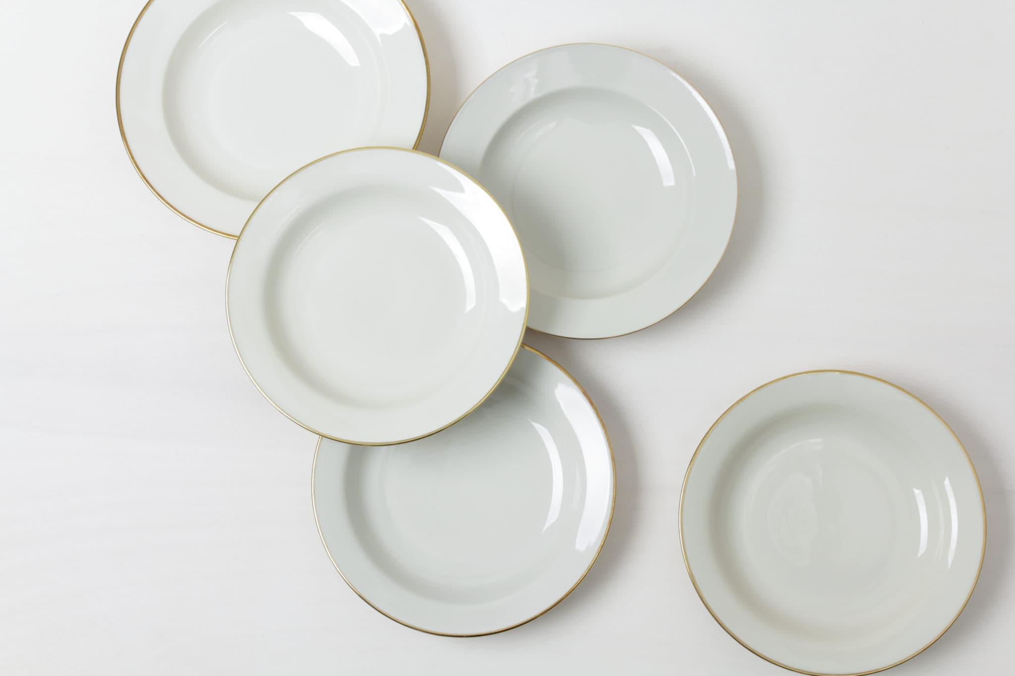 Soup Plate Magdalena Ivory/Gold Mismatching