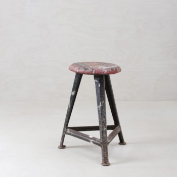 Original Rowac stool, industrial look, rent