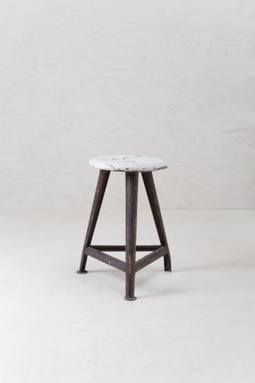 Stool Leya Vintage Rowac | Original Rowac Stool for a nice industrial look. | gotvintage Rental & Event Design