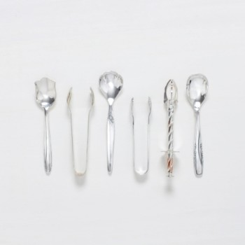 Sugar Spoon Antonia Silver-Plated Mismatching | Sugar spoons and tongs, various patterns, silver-plated cutlery with nice patina. | gotvintage Rental & Event Design