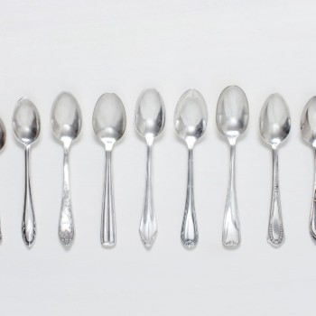 Tea Spoon Antonia Silver-Plated Mismatching | Vintage tea spoons, silver-plated cutlery with nice patina, various patterns. | gotvintage Rental & Event Design