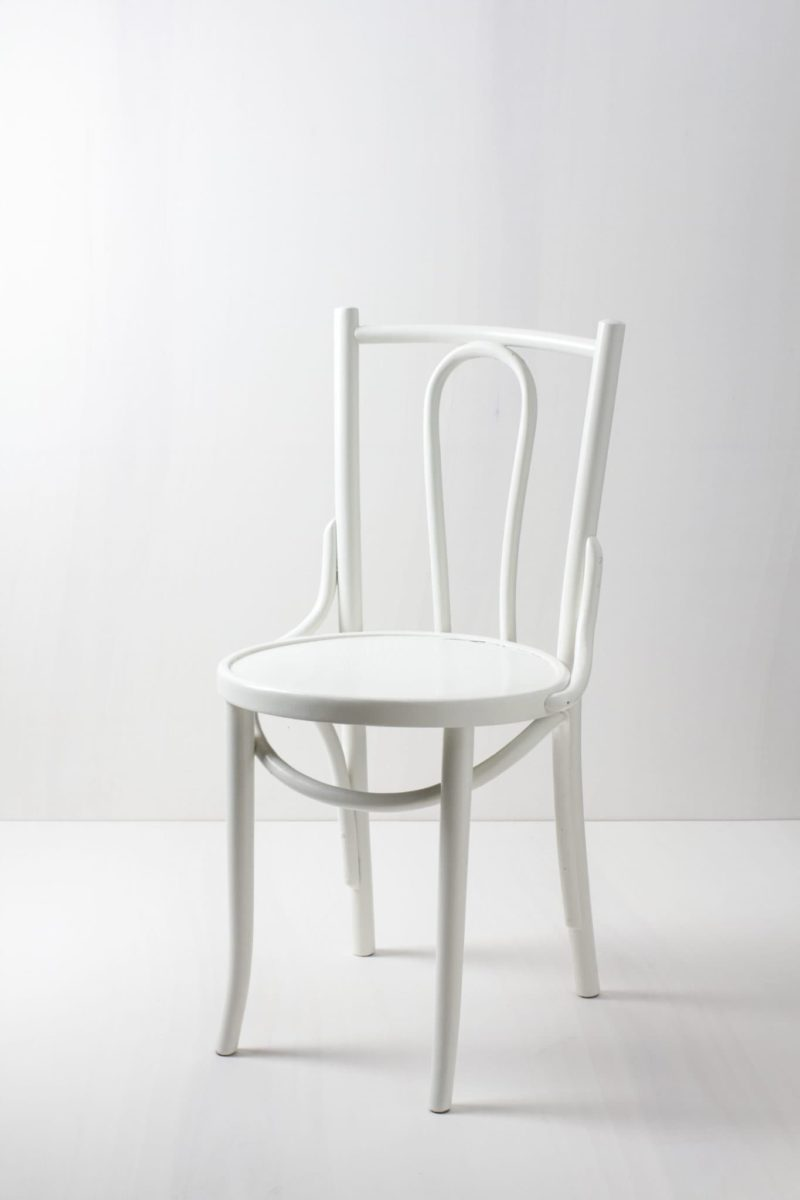 Thonet chair, white chair classic for rent