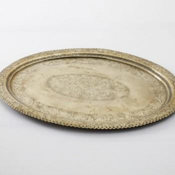 Tablett Esteco Vintage | Rundes, goldfarbenes vintage Tablett zum Servieren und Dekorieren. | gotvintage Rental & Event Design
