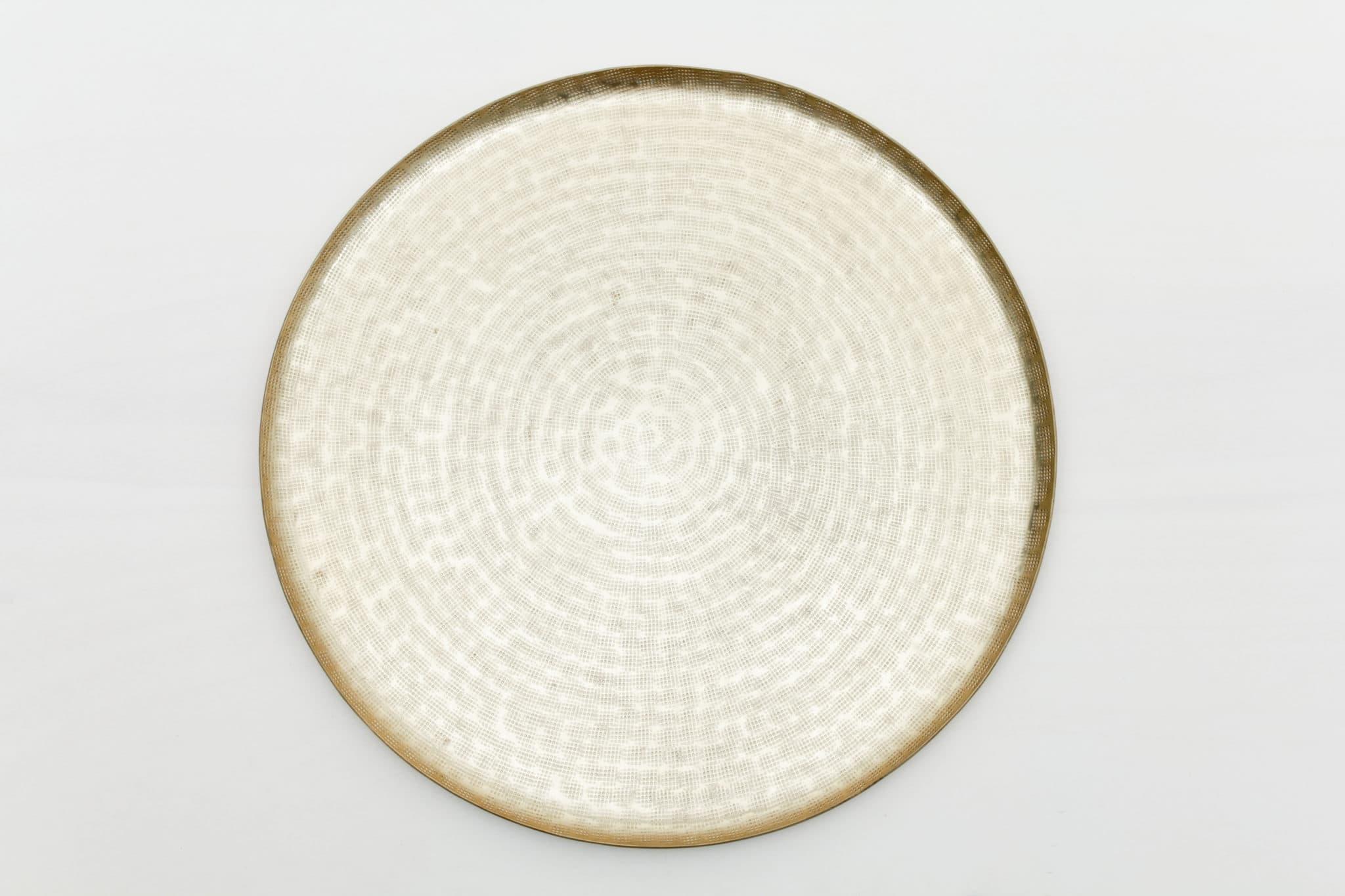 goldenes, rundes Tablett mieten
