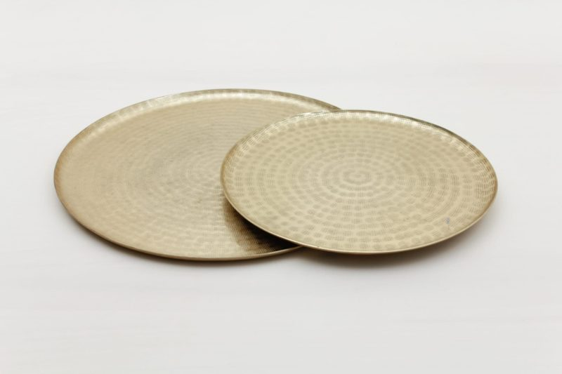 Tableware, golden serving tray for rent