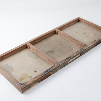 Hölzernes Tablett, Vintage Holzdekoration mieten