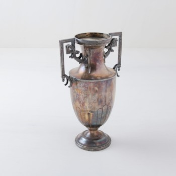 Vase Jimena | Beautiful massive silver vintage vase with exceptional patina. | gotvintage Rental & Event Design