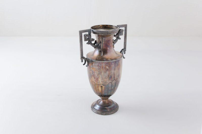 Vintage vase, silver, table decoration, rental