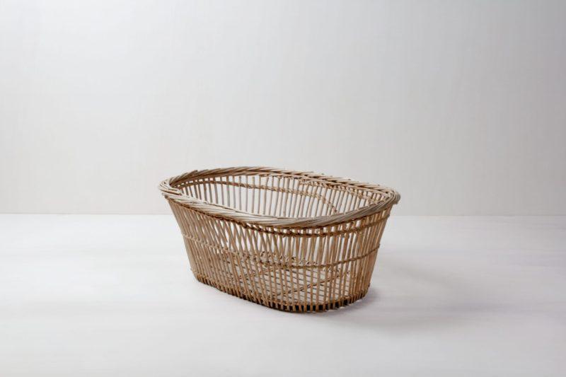 Wäschekorb Basilio | Vintage Weidenkorb für Decken, Kissen oder Dekoration. | gotvintage Rental & Event Design