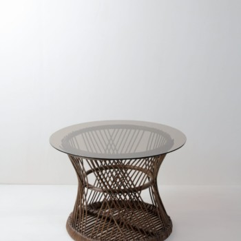 Vintage basket table, rent, Berlin, Hamburg, Cologne