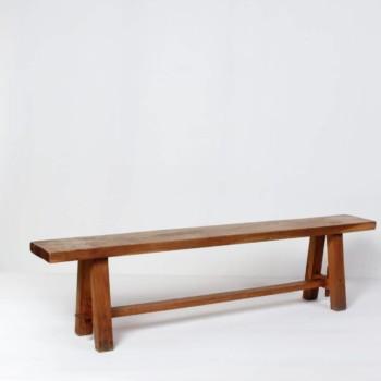 Holzbank Heriberto | Wunderschöne minimalistische Holzbank aus Eiche. Stilvoll rustikal. | gotvintage Rental & Event Design