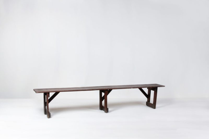 Rent wooden tables, benches and chairs