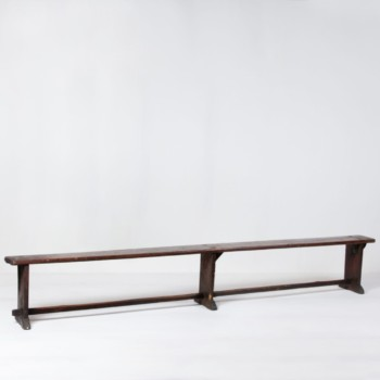 Wooden Bench Ricardo | Dark wooden bench for sitting. | gotvintage Rental & Event Design