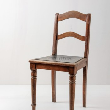 Wooden chair from the early Victorian period for rent
