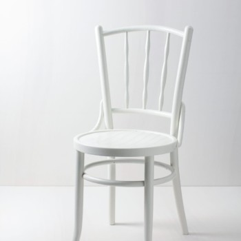 Vintage chair, Thonet chair, elegant wooden chairs rent, white