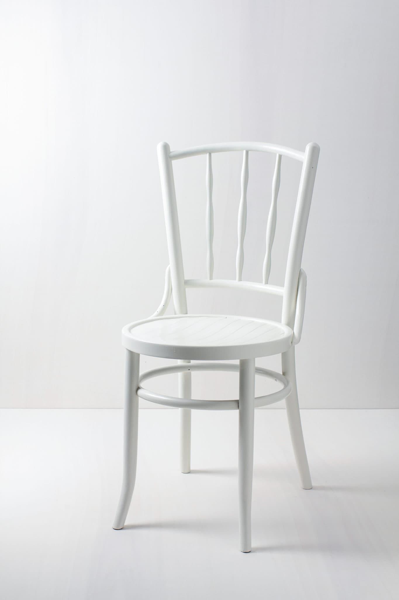 Vintagestuhl, Thonet-Stuhl, elegante Holzstühle mieten, weiß