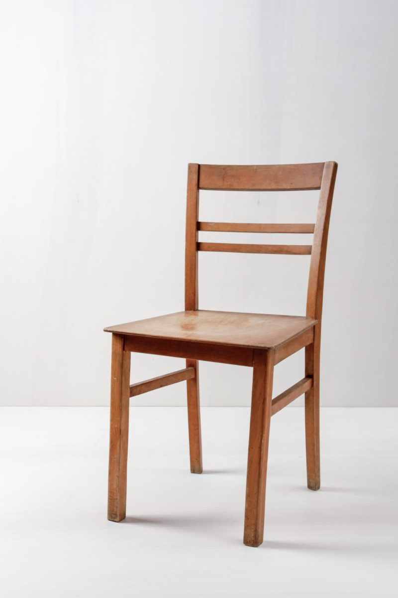 Rent dining chairs, Bauhaus style, wooden chair for your event