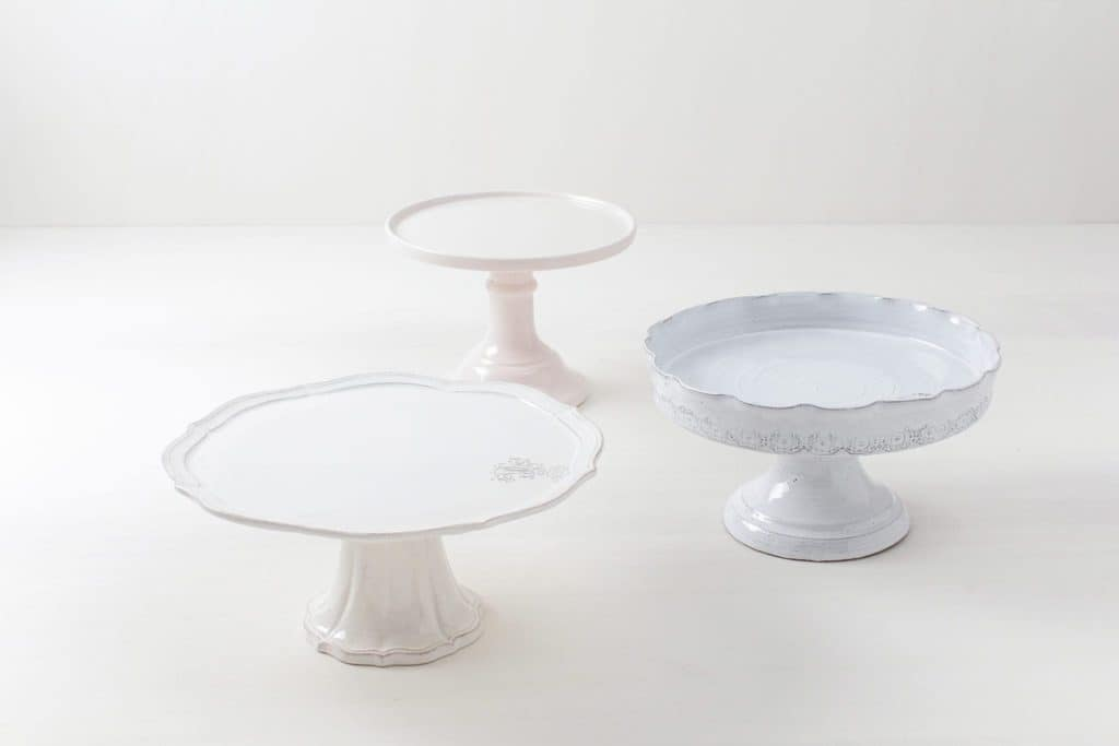 Tortenständer Set Raquel (3 Stück) | Set mit drei unterschiedlichen Tortenständern. | gotvintage Rental & Event Design