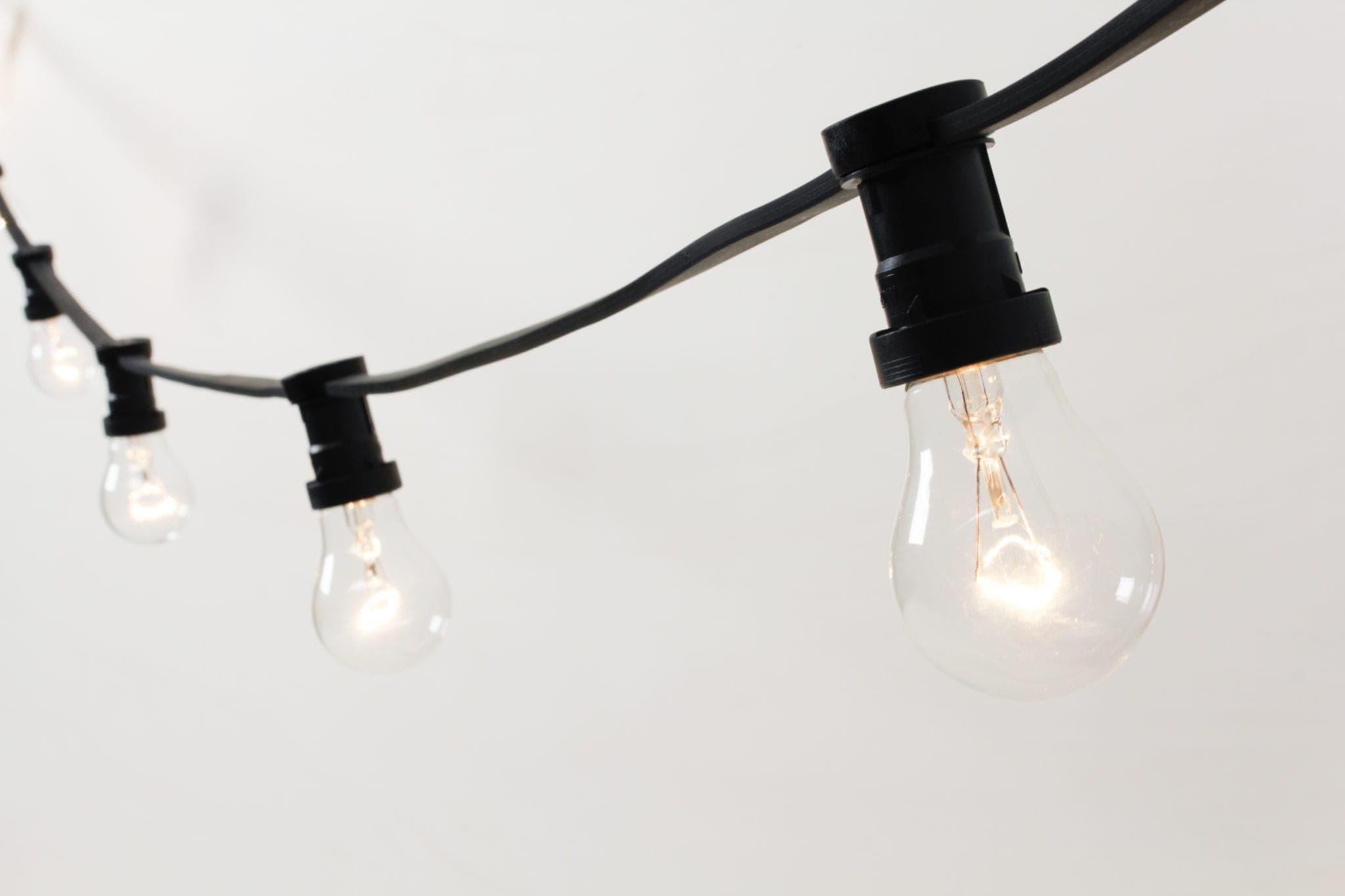 Hängedekoration, Beleuchtung, Lichterkette, Biergartenlichterkette, Illu Lichterkettte, mieten