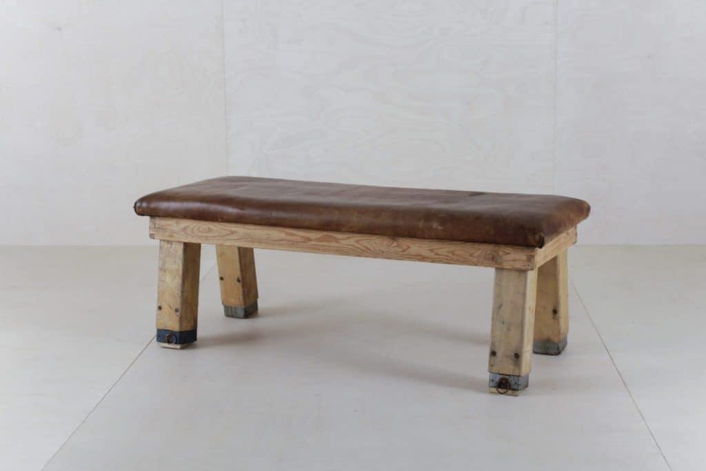 Gymnastics Leather Bench Segundo | Stylish vintage leather benches former gymnastics equipment. | gotvintage Rental & Event Design