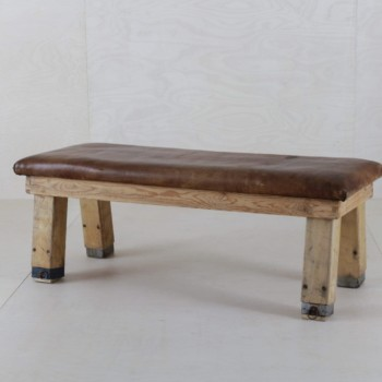 Rental of vintage leather benches