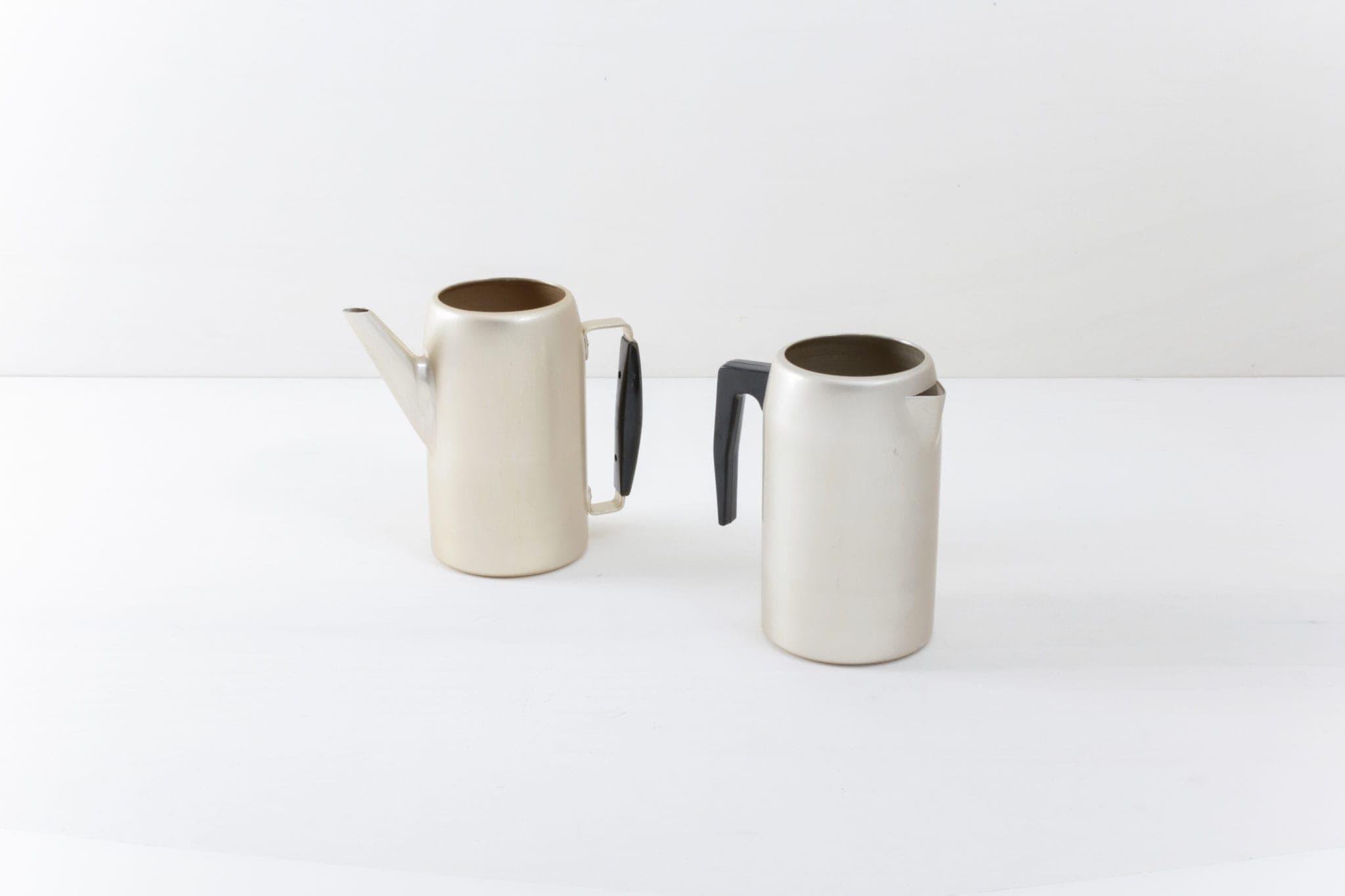 Aluminiumkanne dezentes Rosengold,Blumenvase Gold-Optik. NVA Teekanne, Kaffeekanne DDR Armee