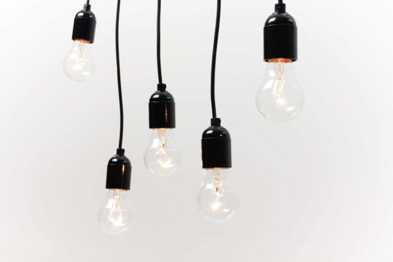 Pendant lamps, light bulbs, event lighting, rent