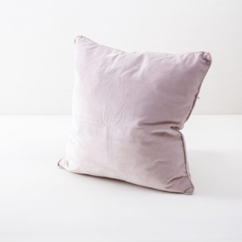 Pillow Marina Velvet Blush 50x50 | Soft velvet pillows made from cotton. Several colours to combine such as velvet pillows in blush, light blue and dark green. | gotvintage Rental & Event Design