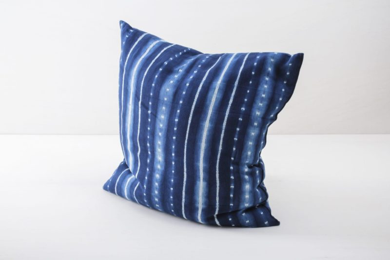 Blue, colourful cushions for rent
