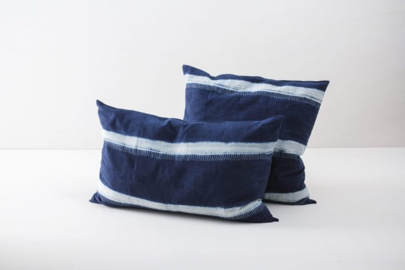Rent, hand dyed cotton cushions
