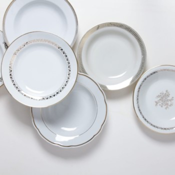 tableware rental, porcelain, plates, vintage tableware, rent