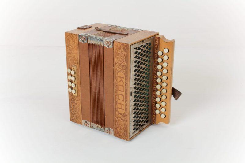 vintage accordion, event decoration, antique instrument