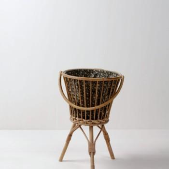 bamboo basket vintage decoration & rental furniture in Berlin