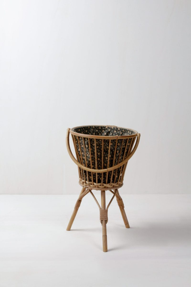 bamboo basket vintage decoration & rental furniture in Berlin