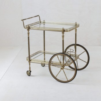 Vintage bar trolley for bar, lounge, shooting rent, hire