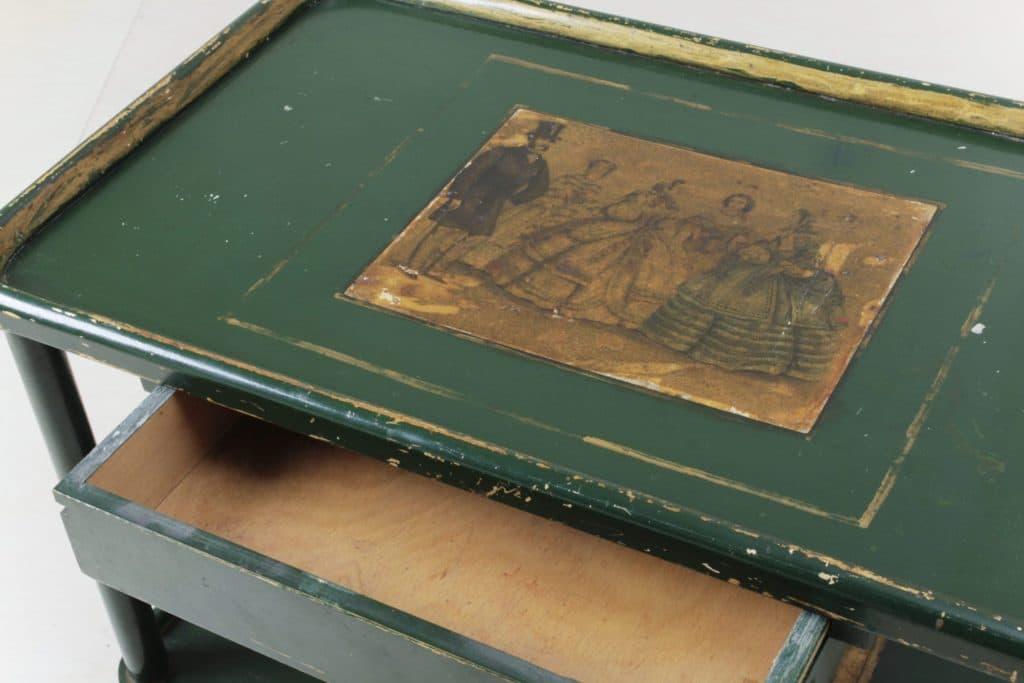 Servierwagen Tabora | Charmanter vintage Servierwagen aus Holz mit einer Schublade. | gotvintage Rental & Event Design