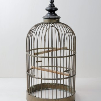 Bird Cage Anthea | This pretty metal bird cage is a very romantic detail. Can be used for weddings and other special events. | gotvintage Rental & Event Design
