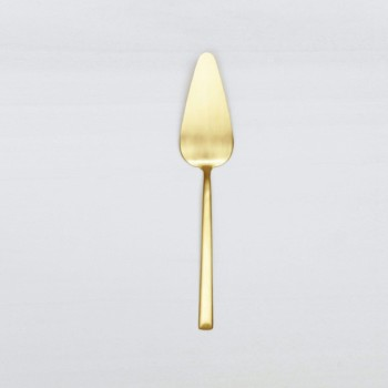 Mietbesteck für Hochzeit. Tortenheber in gold mieten.