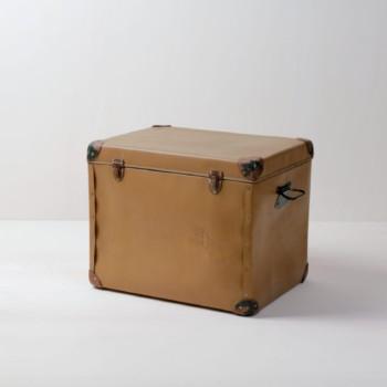 Vintage camping cooler for rent, rental furniture, decoration elements