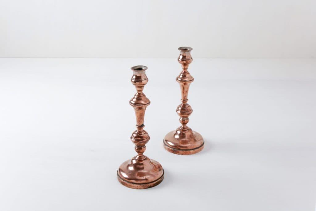 Candleholder Olivia | Pretty vintage copper-coloured candleholder. | gotvintage Rental & Event Design