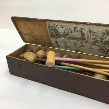 Vintage croquet game, antique toys, rent