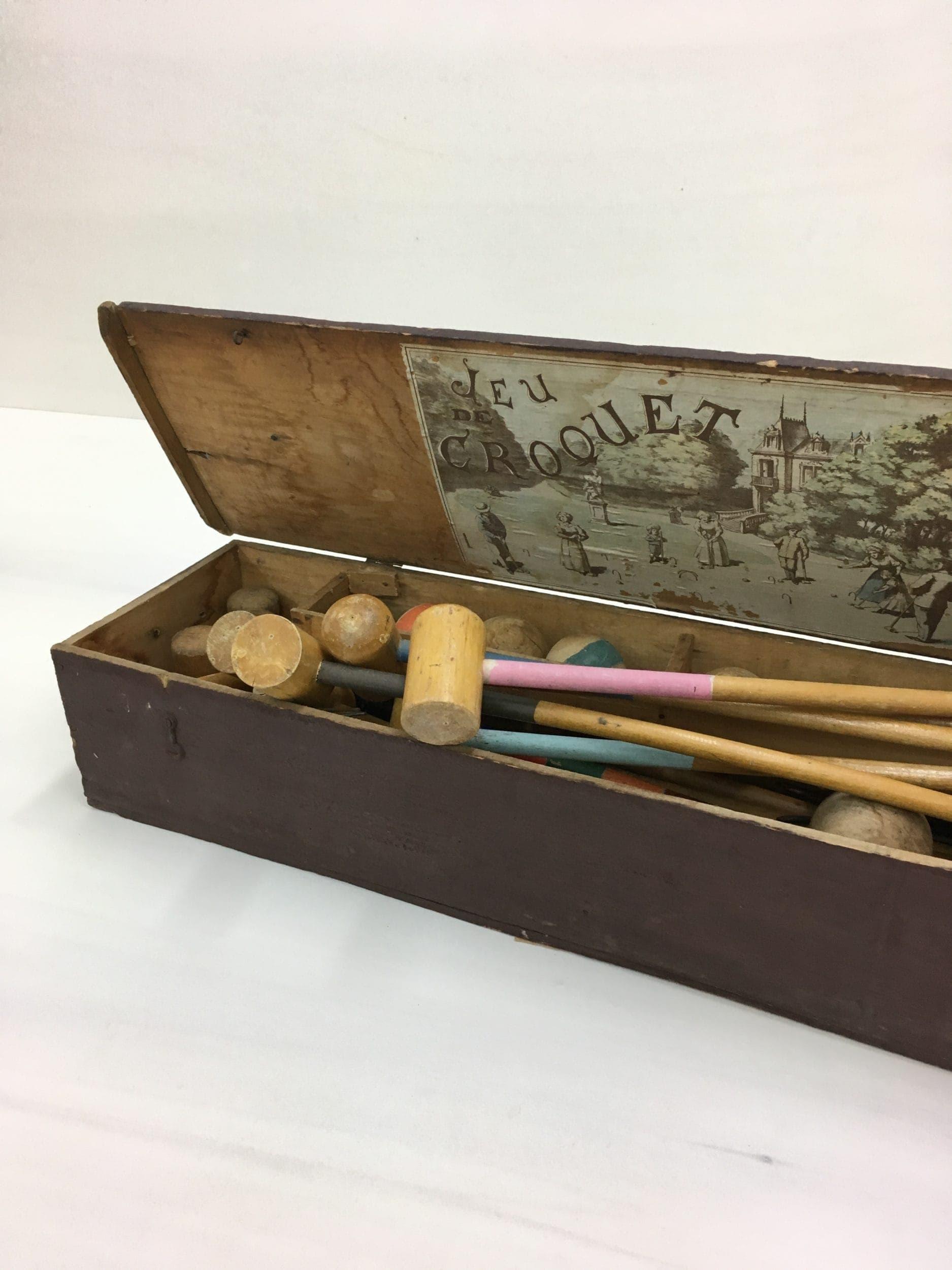 Vintage Krocket Spiel, Antikes Spielzeug, mieten
