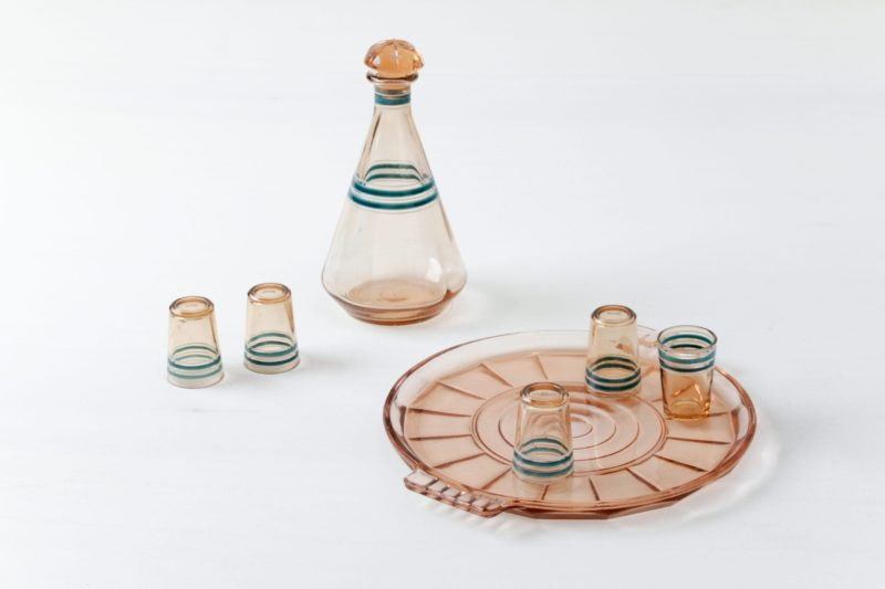 Vintage liqueur set, rent, tableware rental