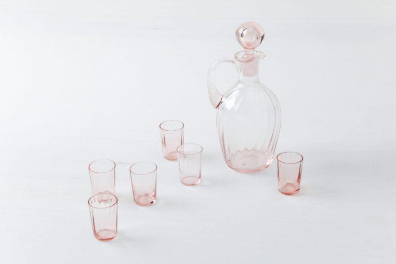 Decanter set, schnapps bottles, glassware, rent, Berlin, Hamburg, Cologne